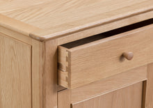 Nordic Living 3 Door Sideboard - Oak or Painted
