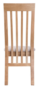 Nordic oak Living Slat Back chair with fabric seat