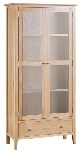 Nordic Living Display Cabinet with Lights - Oak or Painted