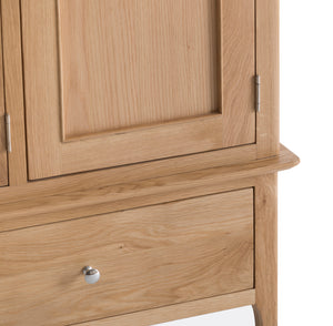 Nordic Oak Bedroom 2 Door 1 Drawer Wardrobe - Oak or Painted