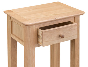 Nordic Oak Living Telephone Table - 2 colour options