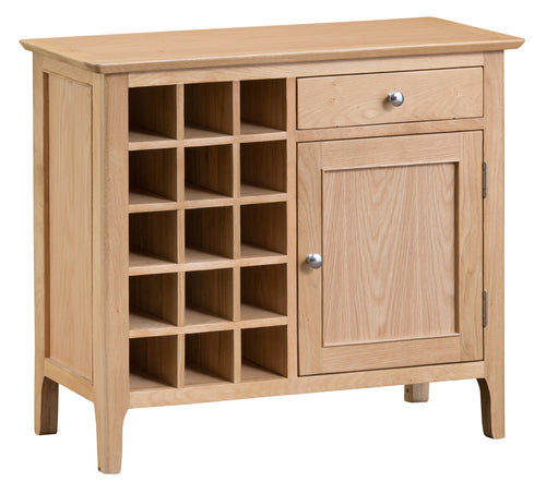 Nordic Oak Living Wine Cabinet