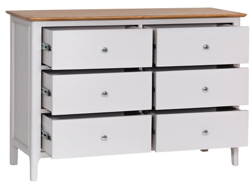 Nordic Bedroom 6 Drawer Chest
