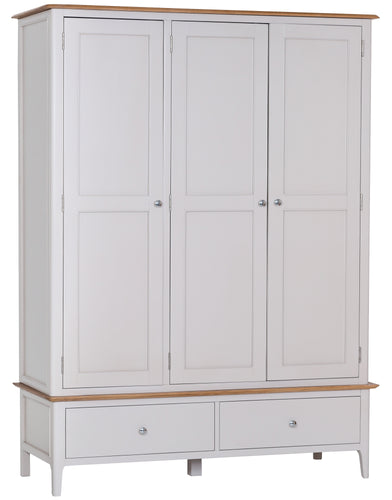 Nordic Bedroom 3 Door 2 Drawer Wardrobe