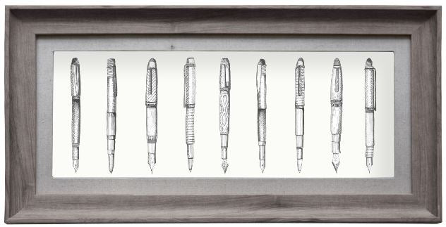 Pens Framed Art