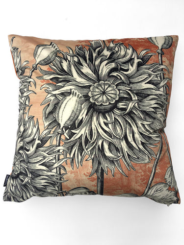 Poppy Velvet cushion