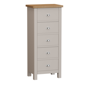 Dove 5 Drawer Narrow Chest