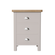 Dove 3 Drawer Bedside
