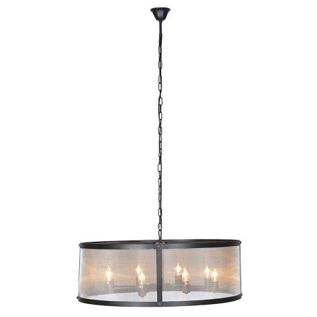 Black Iron Chandelier Light