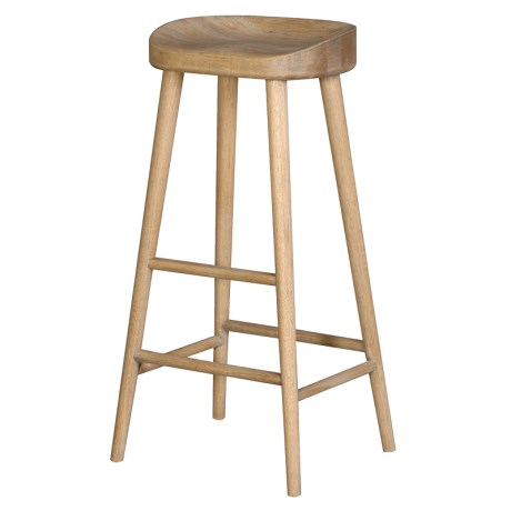 Weathered Oak Farmhouse Barstool