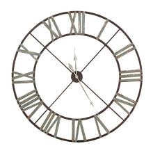 Large Aged Wrought Iron Wall Clock
