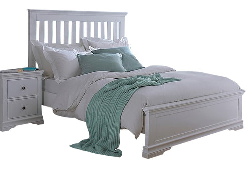 Swan 5'0 Bed (Grey/White)