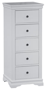 Swan 5 Drawer Wellington (Grey/White)