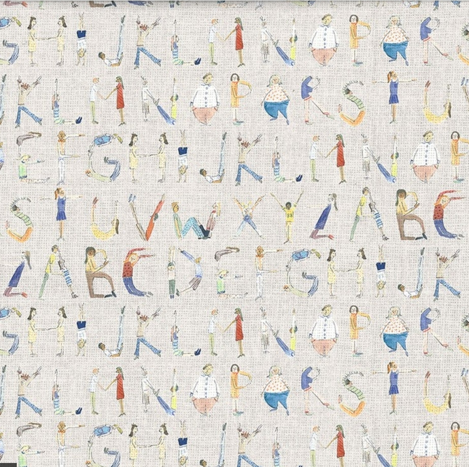 Alphabet Wallpaper - 4 Colourways