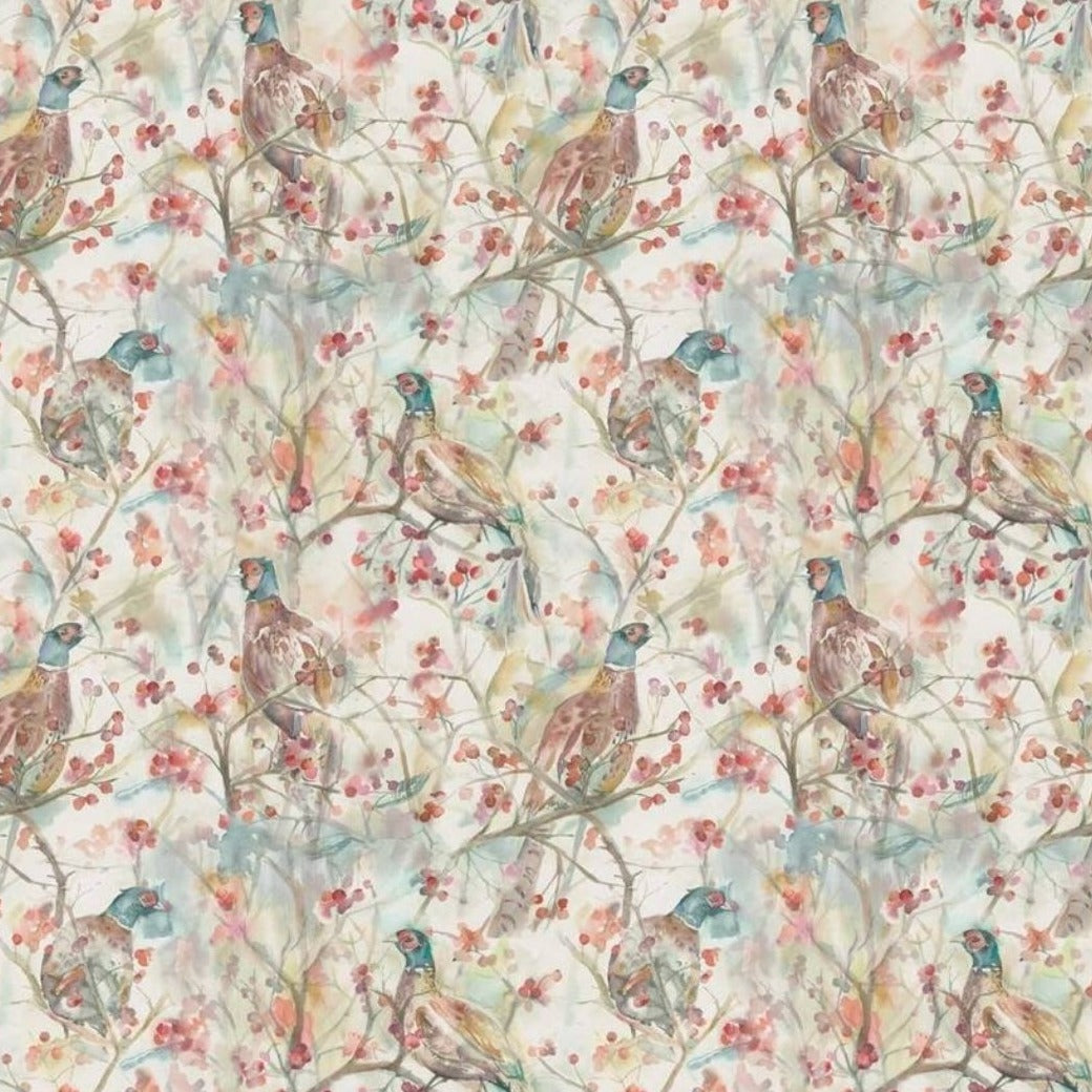 Blackberry Row - Linen fabric by the metre