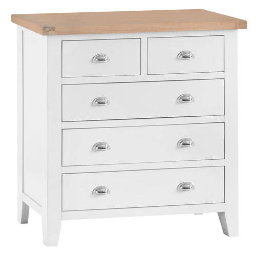 Thornby 2 Over 3 Chest - in Grey or White