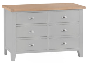 Thornby 6 Drawer Chest - in Grey or White