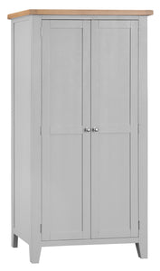 Thornby Full Hanging Wardrobe - in White or Grey