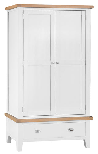 Thornby 2 Door 1 Drawer Wardrobe - in White or Grey
