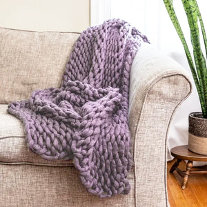 Blush Thick Knit Throw