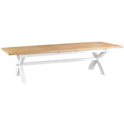Thornby 2.5m Cross Extending Table in Grey or White
