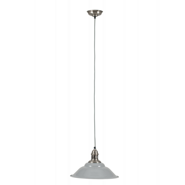 Macchiato Grey & Silver Metal Electric Pendant Light