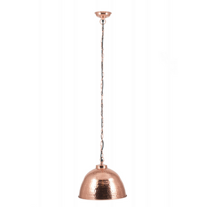Samba Copper Hammered Electric Pendant Light
