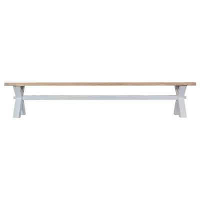 Thornby Large Cross Bench in Grey or White