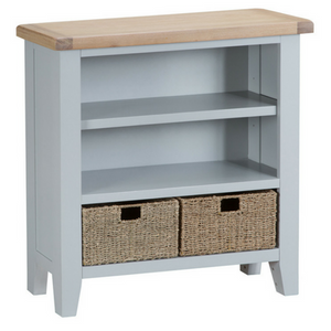 Thornby Small Wide Bookcase in Grey or White