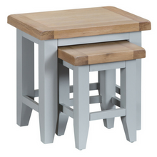 Thornby Nest of 2 Tables in Grey or White