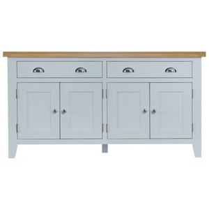 Thornby 4 Door Sideboard in Grey or White