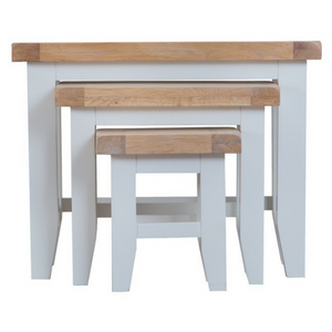Thornby Nest of 3 Tables in Grey or White