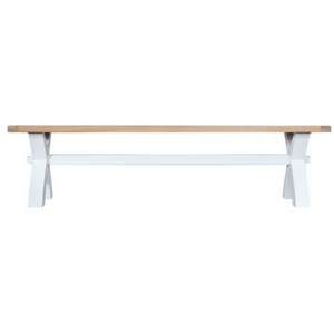 Thornby Small Cross Bench in Grey or White