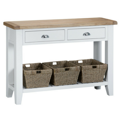 Thornby Large Console Table in Grey or White