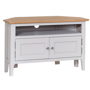 Nordic Corner TV Cabinet - Oak or Painted