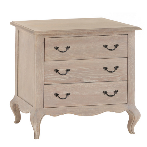 French Country 3 Drawer Chest