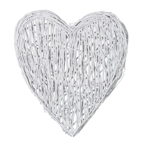 White Wicker Hanging Heart