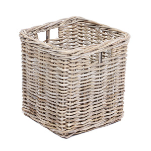 Square Basket with Hole Handles