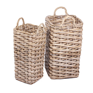 2 Set of Umbrella Baskets with Ear Handles