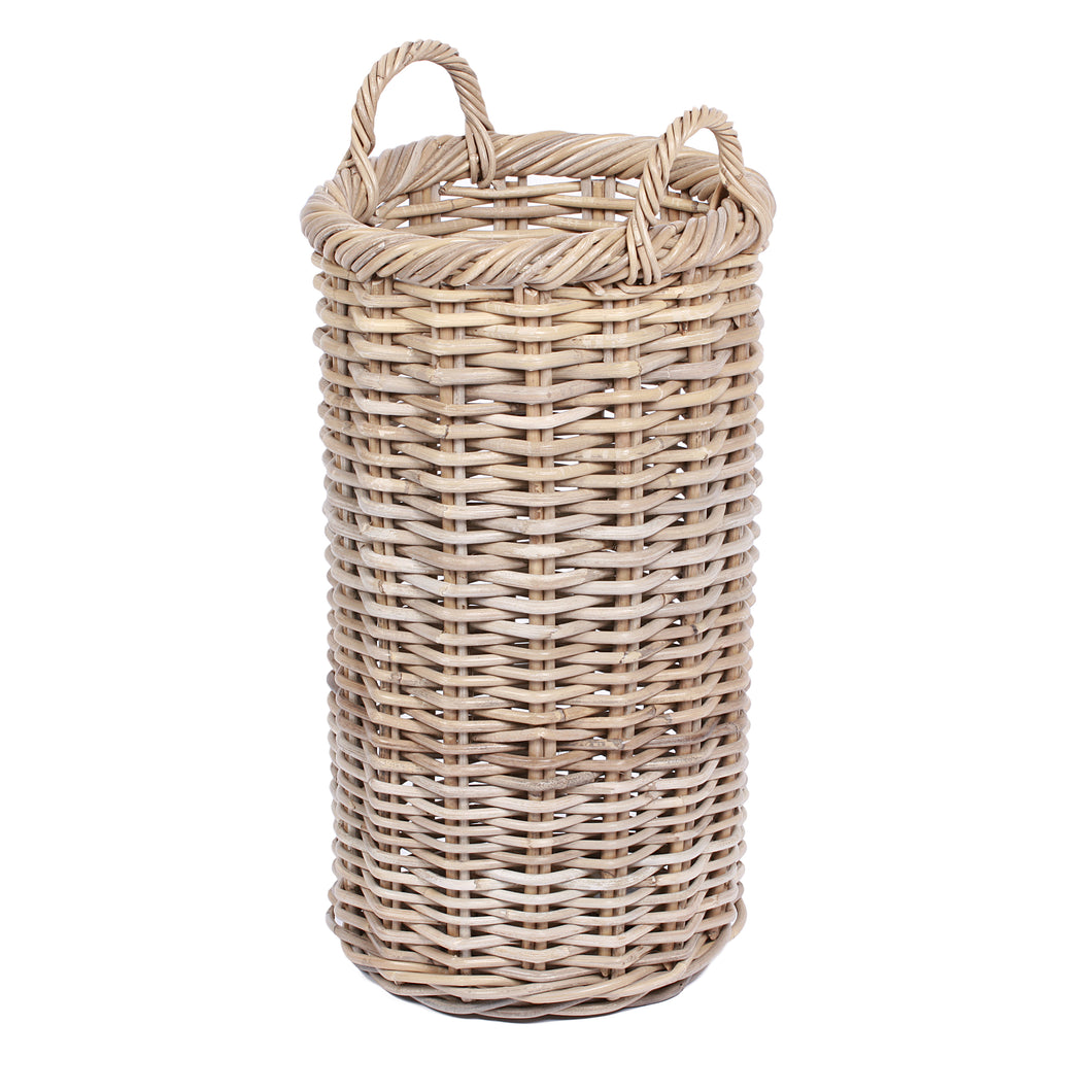 Round Tapered Basket With Handle Ears