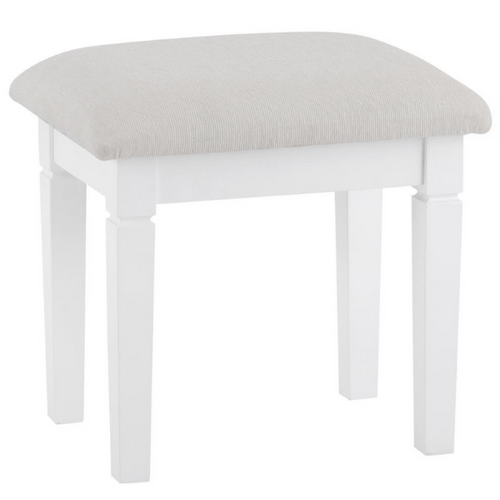 Swan Dressing Stool (Grey/White)