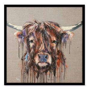 Bad Hair Day - Highland Cow Print