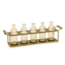 Glass bottles in Brass holder