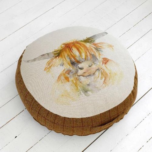 Highland Cow Floor Cushion