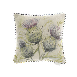 Voyage Thistle Glen Linen Cushion