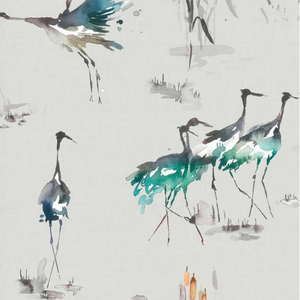 Cranes wallpaper - 2 Colours