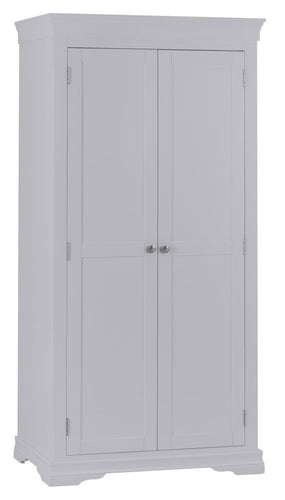Swan Full Hanging Wardrobe (Grey/White)