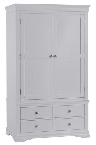 Swan Gents Wardrobe (Grey/White)