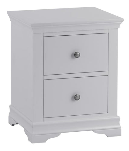Swan Large Bedside Cabinet (Grey/White)