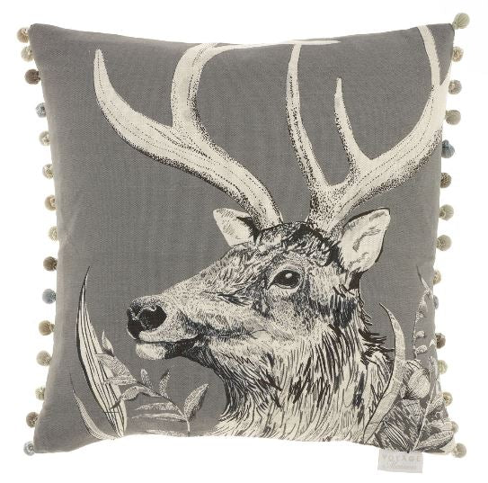 Stag Charcoal Cushion